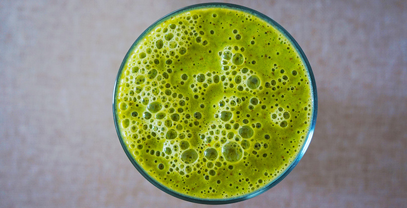 Zelené pyré plné vitamínov