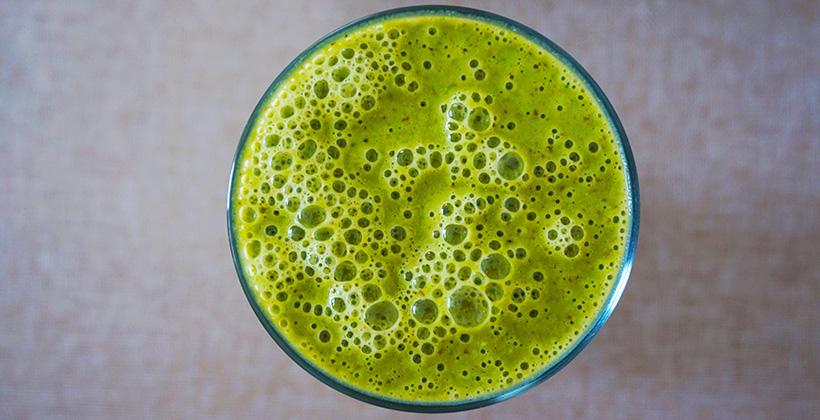 Zelené pyré plné vitamínů